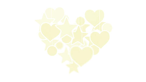 gold heart shape concept loop background luma matt Stock Video Footage
