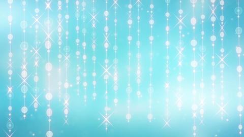 blue shining hanging circles and glares loop Animation