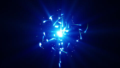 blue particles rush and light loop Stock Video Footage
