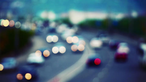 Cars On Road Out Of Focus stock footage