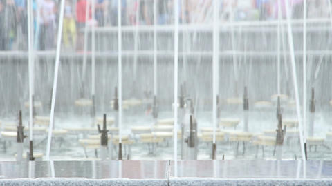 splashes of fountain water Stock Video Footage