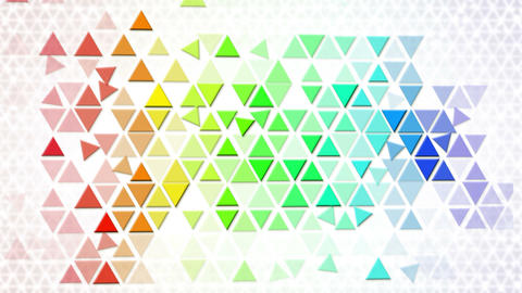 colorful triangles geometric background loop Stock Video Footage