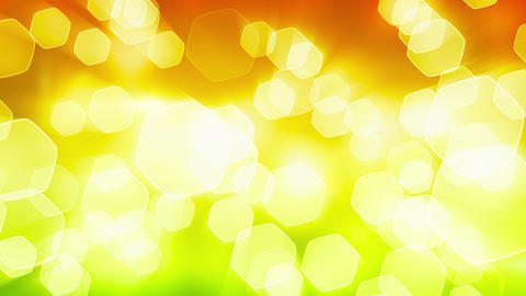 orange green shining bokeh lights loop Stock Video Footage