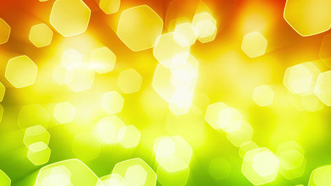 orange green shining bokeh lights loop Animation
