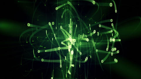 green binary digits rush loop Stock Video Footage