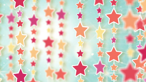 montage of dangling colorful stars Stock Video Footage