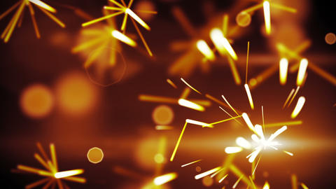 christmas sparkler closeup loop background Stock Video Footage