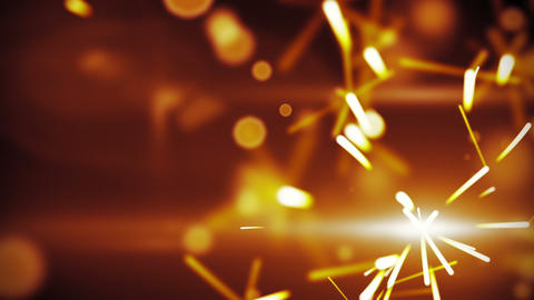 christmas sparkler closeup loop background Animation