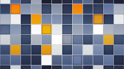 blue orange tiles loopable backgrounds Stock Video Footage