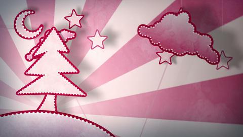 cardboard red christmas tree loop 5.01 - 15.00 Stock Video Footage