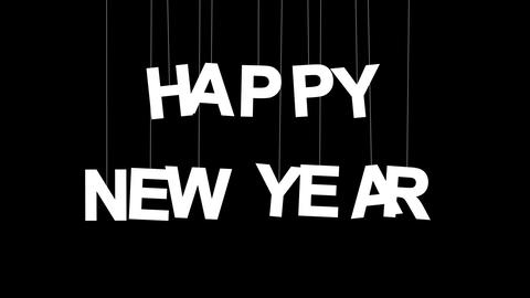 happy new year celebration with luma matte Stock Video Footage