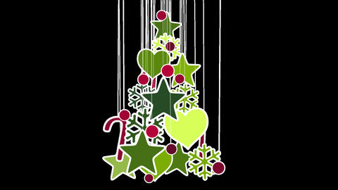christmas tree decoration loop alpha Stock Video Footage