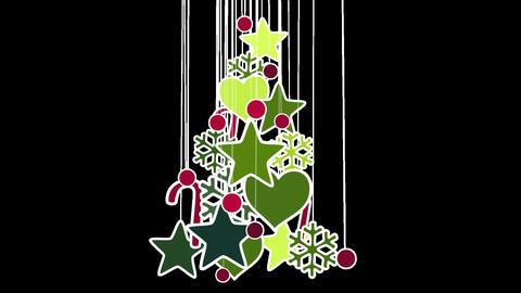 christmas tree decoration loop alpha Stock Video Footage