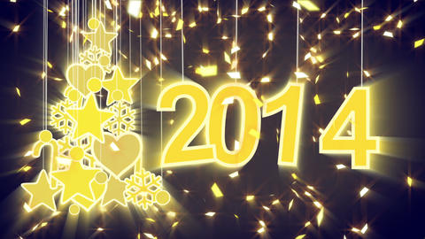 2014 new year shiny decoration loop Stock Video Footage