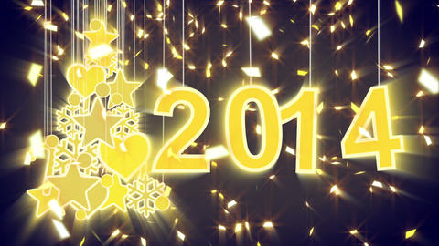 2014 new year shiny decoration loop Animation