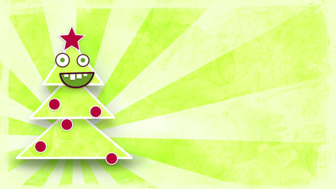 dancing christmas tree with luma matte loop Stock Video Footage