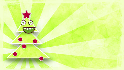 dancing christmas tree with luma matte loop Stock Video Footage