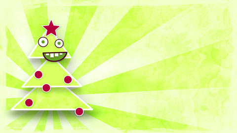 dancing christmas tree with luma matte loop Animation