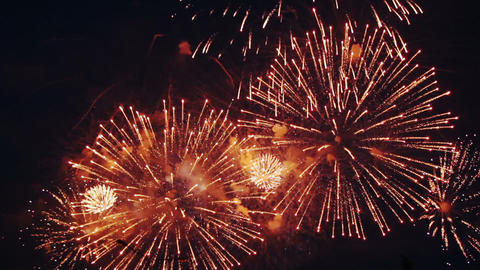 holiday fireworks celebration Stock Video Footage
