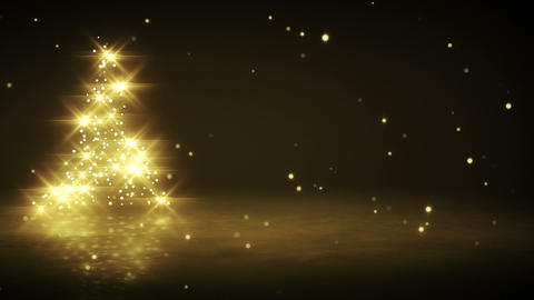 shiny yellow christmas tree shape loop Stock Video Footage