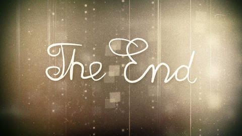 the end old movie animation alpha Stock Video Footage