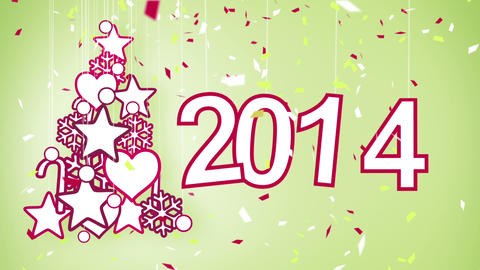 2014 new year celebration loop Stock Video Footage