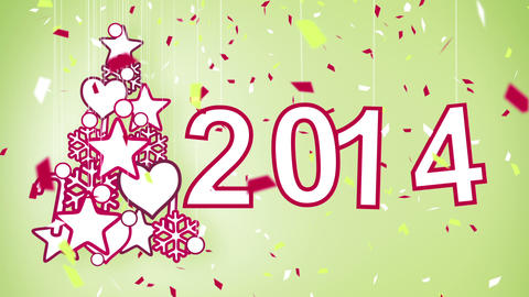 2014 new year celebration loop Animation