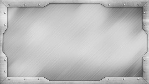 metal title plate loopable background Stock Video Footage