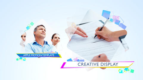 Creative Display - Apple Motion and Final Cut Pro X Template Apple Motion Template