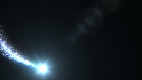 Light streaks and particles A 0a HD Animation