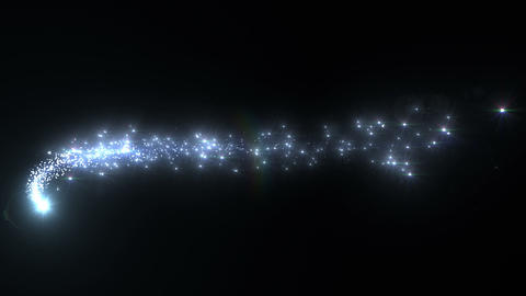 Light streaks and particles A 1a HD Animation