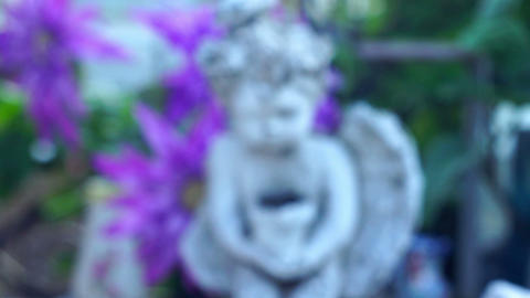 Cemetery Angel Statue Dolly shot Stock Video Footage