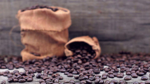 Coffee Beans dolly shot Stock Video Footage