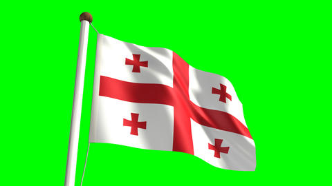 Georgia flag Stock Video Footage