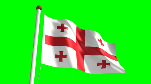Georgia flag Animation