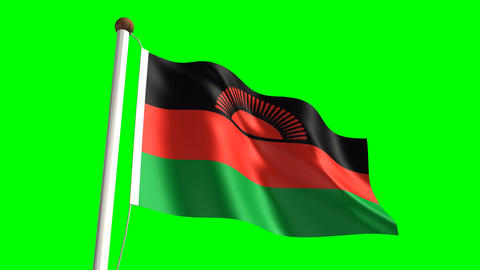 Malawi flag Animation