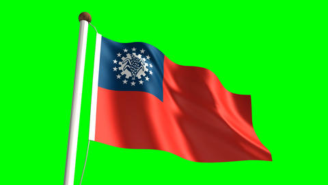 Myanmar flag Animation