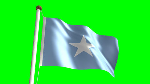 Somalia flag Stock Video Footage