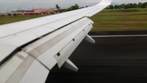 Plane touching down Stock Video Footage
