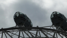 Closed-up View Of London Eye Passenger Capsules, UK, London stock footage