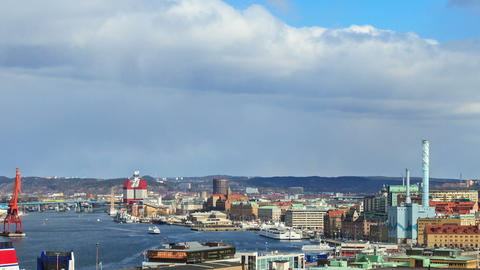 Clouds over the city. Gothenburg, Sweden Footage