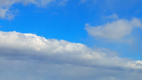 Snow clouds divide the sky. Time Lapse Stock Video Footage