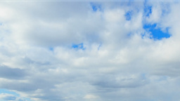 Spring clouds on a blue sky day. Time Lapse Stock Video Footage