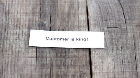 Customer is King Stock Video Footage