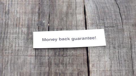 Money Back Guarantee Stock Video Footage