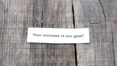 Your Success is our goal Stock Video Footage