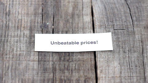 Unbeatable Prices Footage