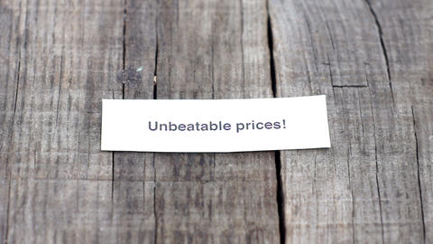 Unbeatable Prices Stock Video Footage