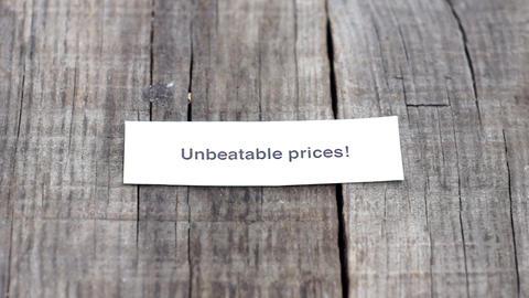 Unbeatable Prices Stock Video Footage