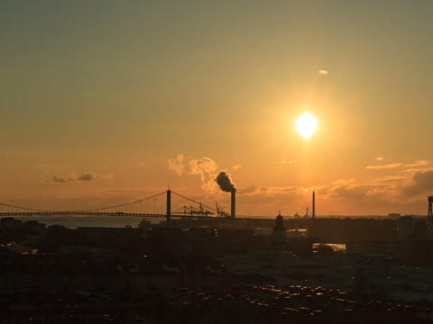 Following the Sun. Gothenburg, Sweden. Time Lapse Stock Video Footage